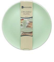 Solid Color Reusable - Mint Reusable Plates 25 cm. - 92892