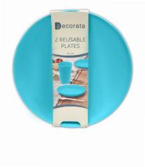 Solid Color Reusable - Turquoise Reusable Plates 20 cm. - 92893