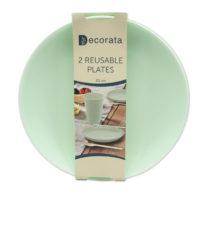 Solid Color Reusable - Mint Reusable Plates 20 cm. - 92994