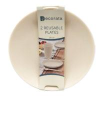 Solid Color Reusable - Crème Reusable Plates 20 cm. - 92896