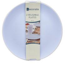 Solid Color Reusable - Lilac Reusable Plates 25 cm. - 92993