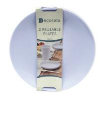 Solid Color Reusable - Lilac Reusable Plates 20 cm. - 92994