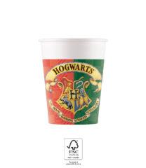 Harry Potter Hogwarts Houses - Paper Cups 200 ml. FSC. - 93506
