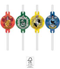 Harry Potter Hogwarts Houses - Paper Straws 22 cm. FSC. - 93368