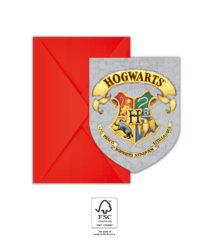 Harry Potter Hogwarts Houses - Paper Invitations & Envelopes 9.5x14.5 cm. FSC. - 93370
