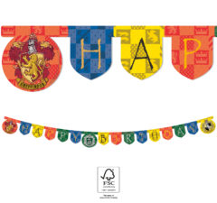 "Harry Potter Hogwarts Houses - ""Happy Birthday"" Die-Cut Banner 2 m. FSC. - 93371"