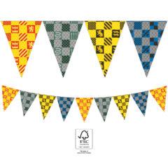 Harry Potter Hogwarts Houses - Triangle Flag Banner 25x18 cm. FSC. - 93377