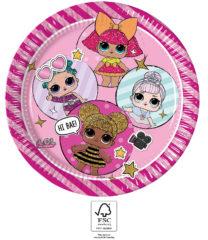 LOL Glitterati - Paper Plates 23 cm. FSC. - 93434