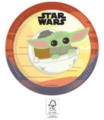 Star Wars The Mandalorian - Paper Plates FSC 23 cm. - 93446