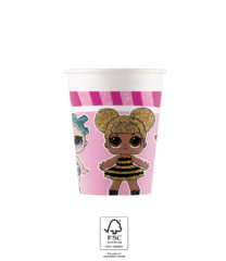 LOL Glitterati - Paper Cups 200 ml FSC. - 93469