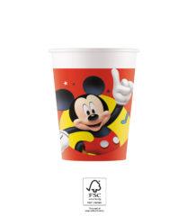 Playful Mickey - Paper Cups 200 ml FSC. - 93473