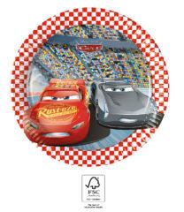 Cars 3 - Paper Plates 20 cm. FSC. - 93489