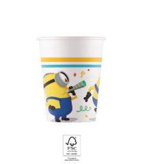 Minions: The Rise of Gru - Paper Cups 200 ml FSC. - 93512