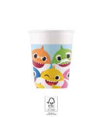 Baby Shark - Paper Cups 200 ml FSC. - 93514