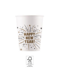Happy New Year Flares - Paper Cups 200 ml FSC. - 93516