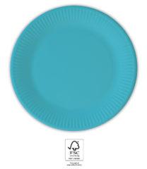 Solid Color Compostable - Turquoise Paper Plates 20 cm. FSC. - 93528