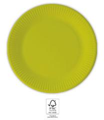 Solid Color Compostable - Light Green Paper Plates 20 cm. FSC. - 93529