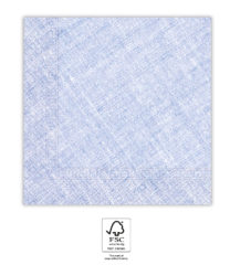 Solid Color Compostable - Lilac Textile Three-Ply Paper Napkins 33x33 cm. FSC. - 93659