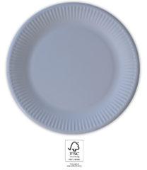 Solid Color Compostable - Lilac Paper Plates 23 cm. FSC. - 93667