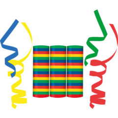 Streamers - Streamers (4 colours mixed: Blue, Yellow, Green, Red) - 89180