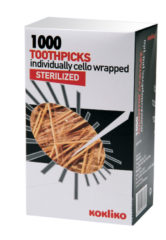 Toothpicks, Bamboo Skewers - Toothpicks Sterilized Individually Cello Wrapped