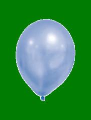 Latex Balloons - Metallic Pastel Balloons Blue - 90337