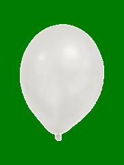 Latex Balloons - Metallic Pastel Balloons White - 90339