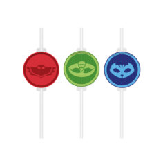 Pj Masks - Medallion Paper Straws  - 90658