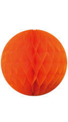 Garlands - Orange Honeycomb Hanging Decoration 30 cm - 90684