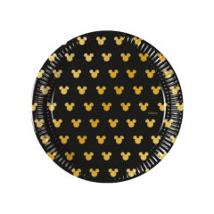 Mickey Gold. - Paper Plates 20 cm - 90700