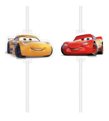 Cars 3 - Medallion Paper Drinking Straws - 90730