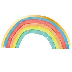 Rainbow Party - Three-Ply Shaped Paper Napkins Metallic 33x16,5 cm - 90803