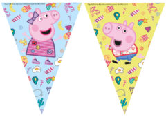 Peppa Pig Messy Play - Triangle Flag Banner (9 Flags) - 91104
