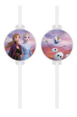 Frozen 2 - Medallion Paper Drinking Straws - 91131
