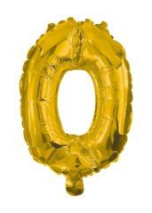Numeral Foil Balloons - 85 cm Gold Foil Balloon No. 0 - 91184