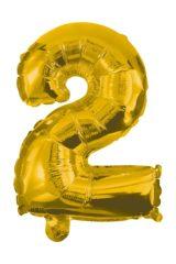 Numeral Foil Balloons - 85 cm Gold Foil Balloon No. 2 - 91186