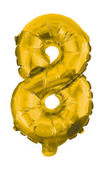Numeral Foil Balloons - 85 cm Gold Foil Balloon No. 8 - 91192