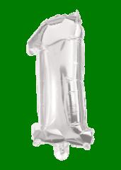 Numeral Foil Balloons - 85 cm Silver Foil Balloon No. 1 - 91195
