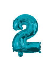 Numeral Foil Balloons - 32 cm Blue Foil Balloon No. 2 - 91220