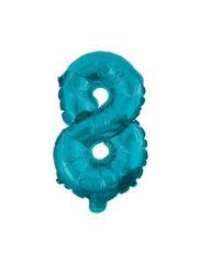 Numeral Foil Balloons - 32 cm Blue Foil Balloon No. 8 - 91227