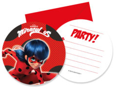 Miraculous Ladybag - Die-Cut Invitations & Envelopes - 91351