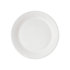 Decorata™ Compostable White Products - Home Compostable White Paper Plates 16 cm FSC - 91377