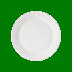 Decorata™ Compostable White Products - Home Compostable White Paper Plates 16 cm FSC - 91377