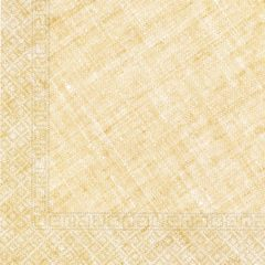 Decorata™ Compostable Solid Colour Collection - Home & Industrial Compostable Yellow Three-Ply Napkins 33x33 cm FSC - 91495