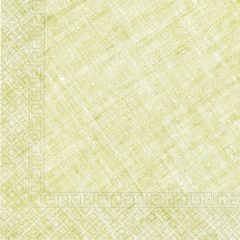 Decorata™ Compostable Solid Colour Collection - Home & Industrial Compostable Lime Green Three-Ply Napkins 33x33 cm FSC - 91496