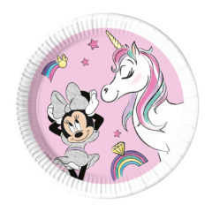 Minnie Unicorn Dreams - Industrial Compostable Paper Plates 20 cm - 91515