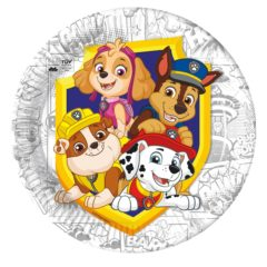 Paw Patrol Yelp For Action - Industrial Compostable Paper Plates 23 cm FSC - 91657