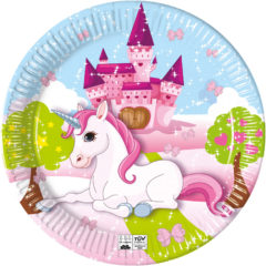 Unicorn Compostable - Industrial Compostable Paper Plates 23 cm FSC - 91658