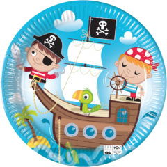 Pirates Treasure Hunt - Industrial Compostable Paper Plates 23 cm FSC - 91660