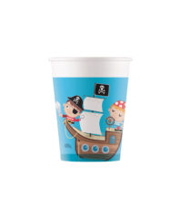 Pirates Treasure Hunt - Industrial Compostable Cups 200 ml FSC - 91664